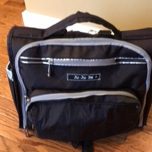 Ju Ju Be black and silver diaper bag - BFF